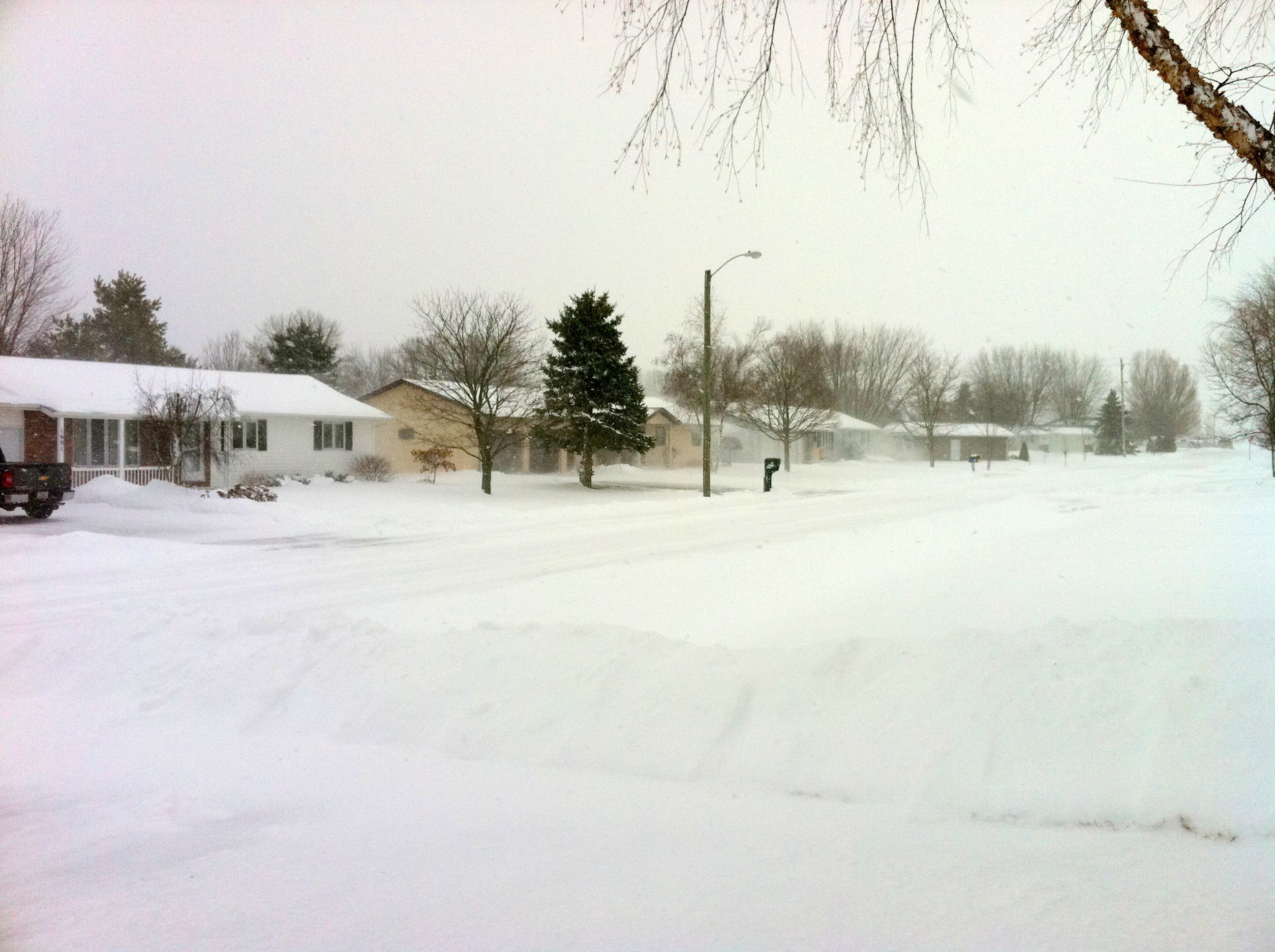 My first blizzard at the end of the world