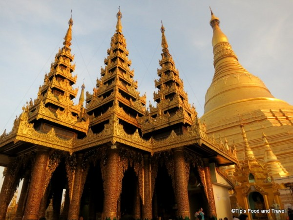 Beautiful Shwedagon temple before the sunset