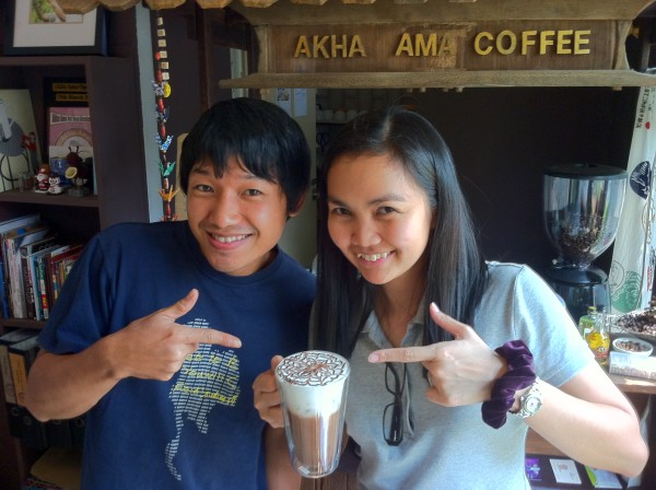 with Lee, the owner of Akha Ama