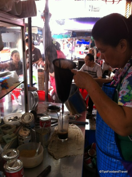 drink cart at Bangchak market in soi 95