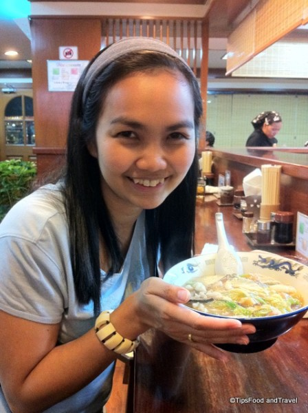 Me with a big bowl of Ramen at Ramen Tei